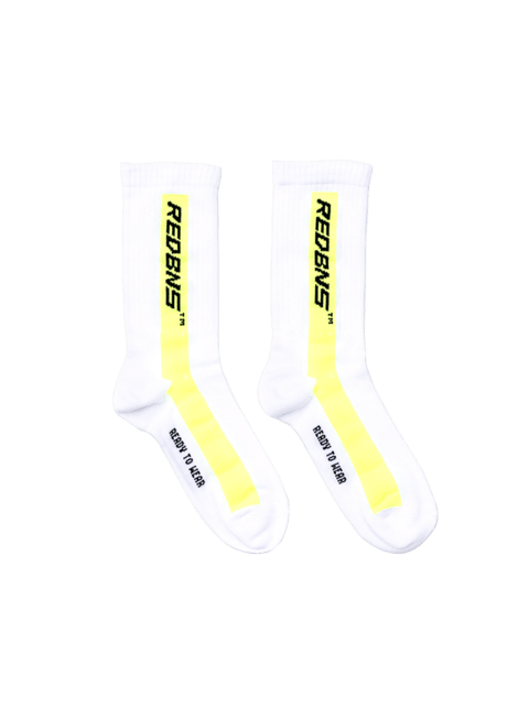NEON YELLOW STRIPE SOCK