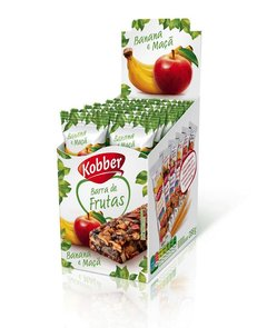 BARRA DE CEREAL SABOR BANANA E MAÇÃ - DISPLAY COM 12un
