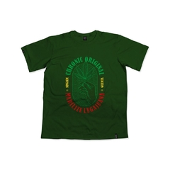 camiseta chronic marilize legajuana verde skate in panta