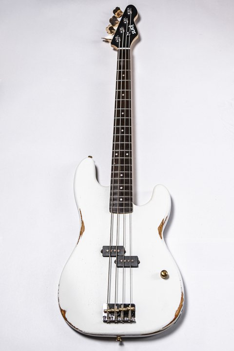 Bajo Slick Guitars SLPB White Precision