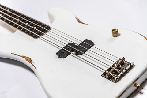 Bajo Slick Guitars SLPB White Precision en internet