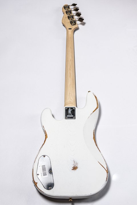 Bajo Slick Guitars SLPB White Precision - Kairon Music Srl