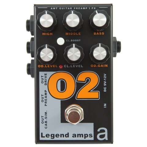 Pedal AMT O2 Legend Amps II Orange Emulates