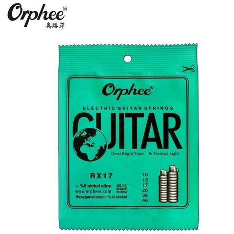Encordado Orphee RX17 Nickel Para Guitarra Eléctrica .010-46