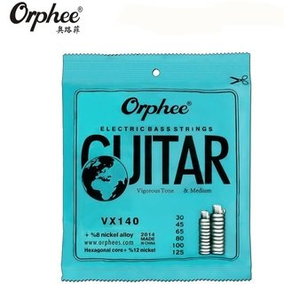 Encordado Orphee Nickel Alloy VX140 Para Bajo 6 Cuerdas 30-125