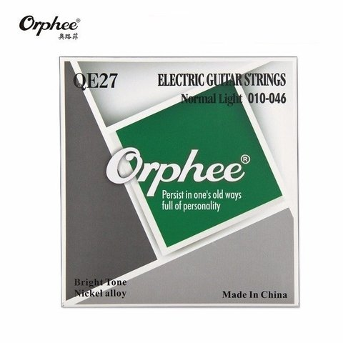 Encordado Orphee Qe27 .010-46 Nickel Para Guitarra Electrica