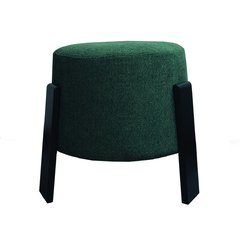 PUFF MADERA OSCURA APILABLE VERDE