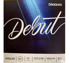 Daddario Debut D310 4/4m Encordado Medium Para Violin 4/4