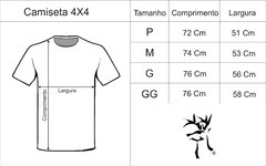 Camiseta 4x4 Chumbo Mescla Off Road