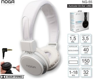 Auricular Noga Fit NG-55 - Color Blanco