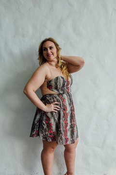 Vestido Vier Animal Print - We are Lovers Indumentaria Talles Grandes