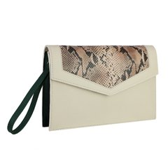 Clutch Munique Cobra - Off White e Verde Esmeralda - comprar online