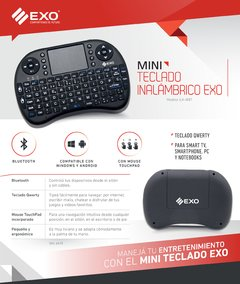 Mini Teclado Inalambrico Bluetooth Smart Tv Pc Android Win - comprar online