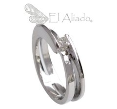 "522. Anillo ""Between Us"" en Oro Blanco 18k."