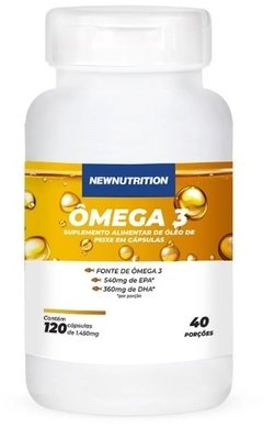ÔMEGA 3 1000MG - 120 CAPS - NEW NUTRITION