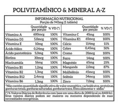 POLIVITAMINICO & MINERAL A-Z - 120 CAPS - NEW NUTRITION - comprar online