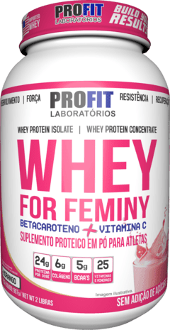 WHEY FOR FEMINY  - 900G - PROFIT LABS na internet