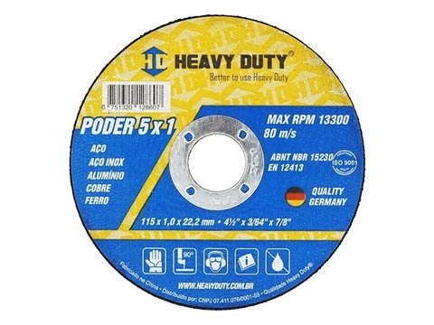 Disco de Corte Inox 5x1 - Heavy Duty