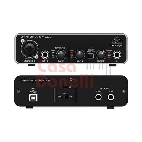 Interfaz Audio - Usb Behringer UMC22