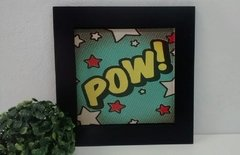 Quadro Decorativo Pop Art Pow na internet