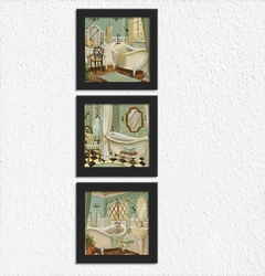 Conjunto Kit Quadros Decorativos Lavabo c 3