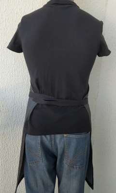 Avental Jeans Black Silver - Made of Jeans