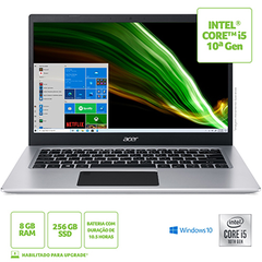 "NOTEBOOK ACER 14"" HD A514-53-59QJ / NX.A4LAL.003 / I5-1035G1/ 8GB/ 256GB SSD/ W10 HOME"