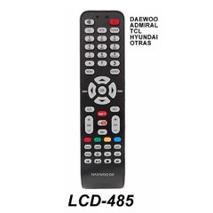 LCD 485 - Control Remoto TV LCD Daewo Admiral Tcl  y Otras Marcas