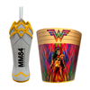 COMBO WONDER WOMAN (Vaso + Balde Metal)