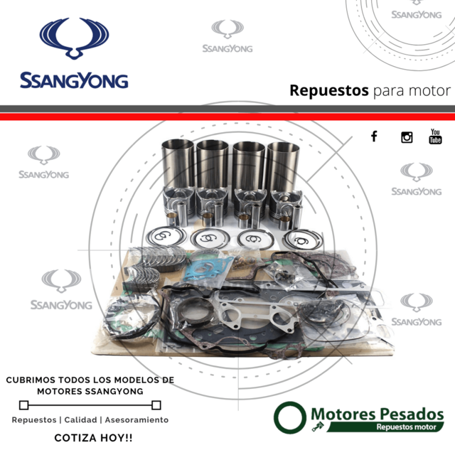 Repuestos Ssangyong - Ssangyong Musso - Ssangyong Koriando - Ssangyong M111 - Ssangyong Istana - Ssangyong OM601 - Ssangyong OM602 - Ssangyong Actyon - Ssangyong D20DT - Ssangyong Arco.