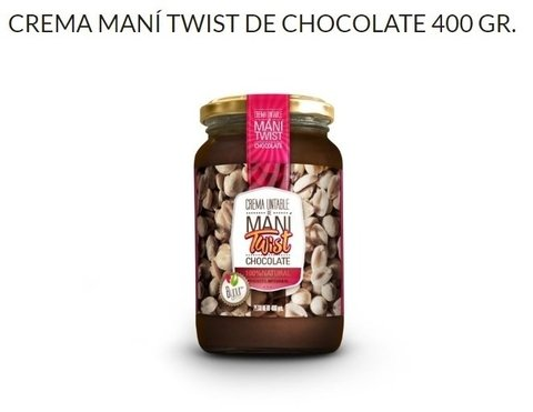"Pasta de Mani ""Byour Food"" Chocolate 400 grms."