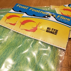 Hi-Ty Wing Fibre FeathersnFlies - Chartreuse