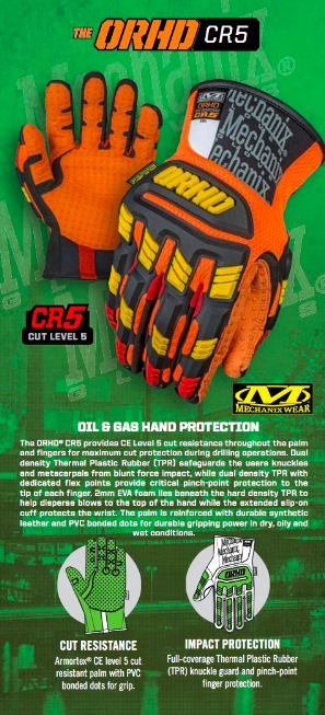 Guantes Orhd-cr5 P/gas -petroleo-mineria Mechanix Tamaño L en internet