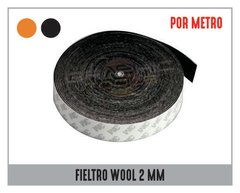 "FIELTRO ADHESIVO WOOL ""POR METRO"" 2MM"