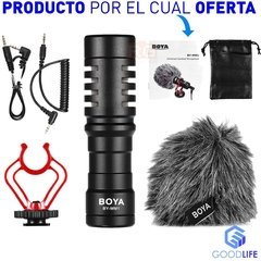 Microfono P/ Camara Video Celular Boya By-mm1 Cardioide - GoodLife