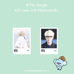 Kit Photocards BTS Suga na internet