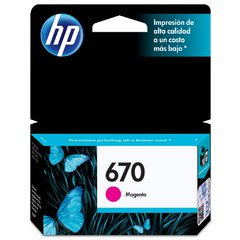 Cartucho Original Hp 670 (cz115al) Ink Advantage / Magenta - comprar online