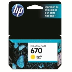 Cartucho Original Hp 670 (cz116al) Ink Advantage / Amarillo - comprar online
