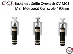 Baston De Selfie Overtech Ov-mc4 / Con Cable / 90mm / Negro