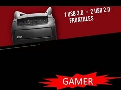 Gabinete Gamer Over Case Ox-204 Midtower Fuente 600w 80 Plus - Import Service Argentina
