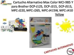 Cartucho Alternativo Max Color Mci-985y Para Brother Yellow