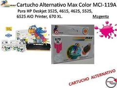 Cartucho Alternativo Max Color Mci-119a Para Hp Magenta