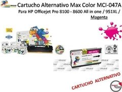 Cartucho Alternativo Max Color Mci-047a Para Hp / Magenta