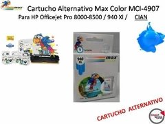 Cartucho Alternativo Max Color Mci-4907 Para Hp / Cian