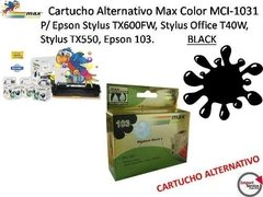 Cartucho Alternativo Max Color Mci-1031 P/ Epson Black