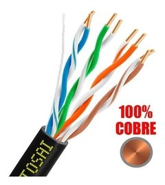 Cable Utp Cat 5e Interior/ Exterior 100% Cobre X 20 Mts