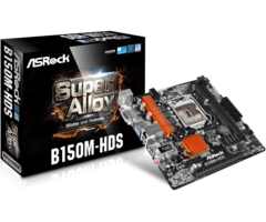 Mother Asrock B150m-hds Socket 1151 Ddr4 Dvi - Hdmi Usb 3.0 - comprar online
