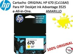 Cartucho Original Hp 670 (cz116al) Ink Advantage / Amarillo