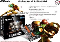 Mother Asrock B150m-hds Socket 1151 Ddr4 Dvi - Hdmi Usb 3.0