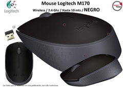 Mouse Logitech M170 / Wireless / 2.4 Ghz/ Hasta 10 Mts Negro